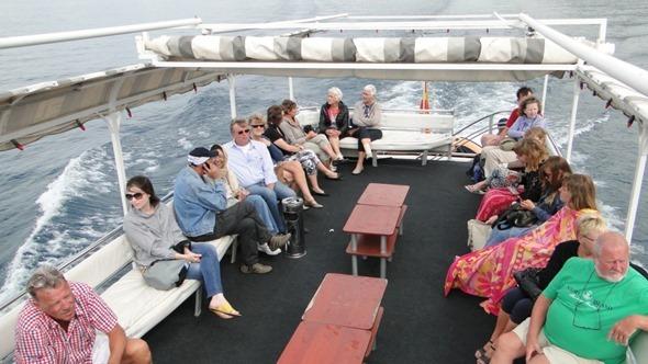Barco para o Mosteiro de São Naum
