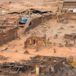 Bento Rodrigues apos a passagem da lama
