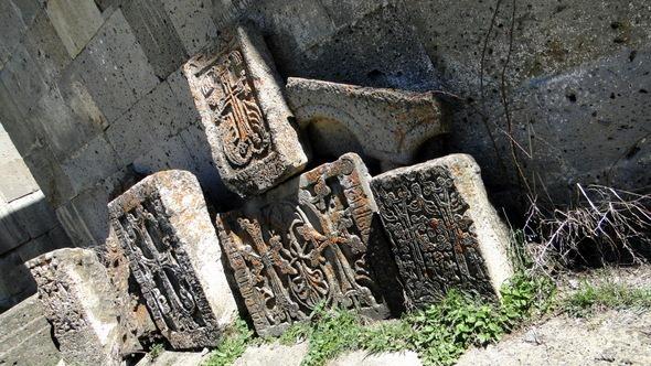 Cruzes no Mosteiro de Tatev