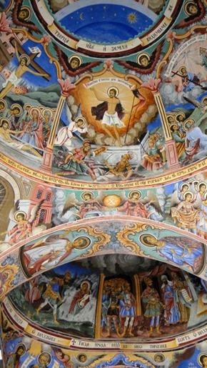 Afrescos na Igreja da Natividade
