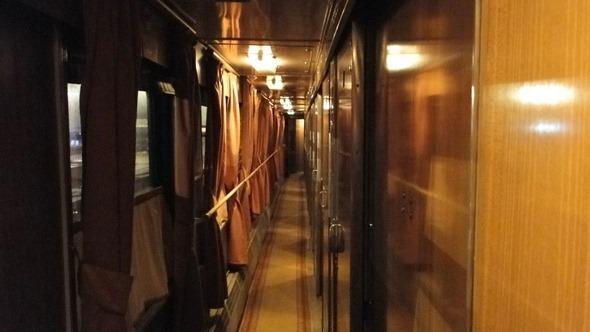 Trem noturno de Tbilisi a Yerevan